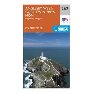ORDNANCE SURVEY Explorer 262 Anglesey West Map With Digital Version