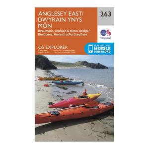 ORDNANCE SURVEY Explorer 263 Anglesey East Map With Digital Version