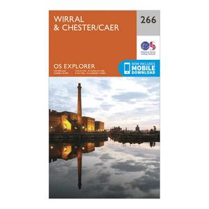 ORDNANCE SURVEY Explorer 266 Wirral & Chester Map With Digital Version