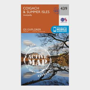 ORDNANCE SURVEY Explorer Active 439 Coigach & Summer Isles Map With Digital Version