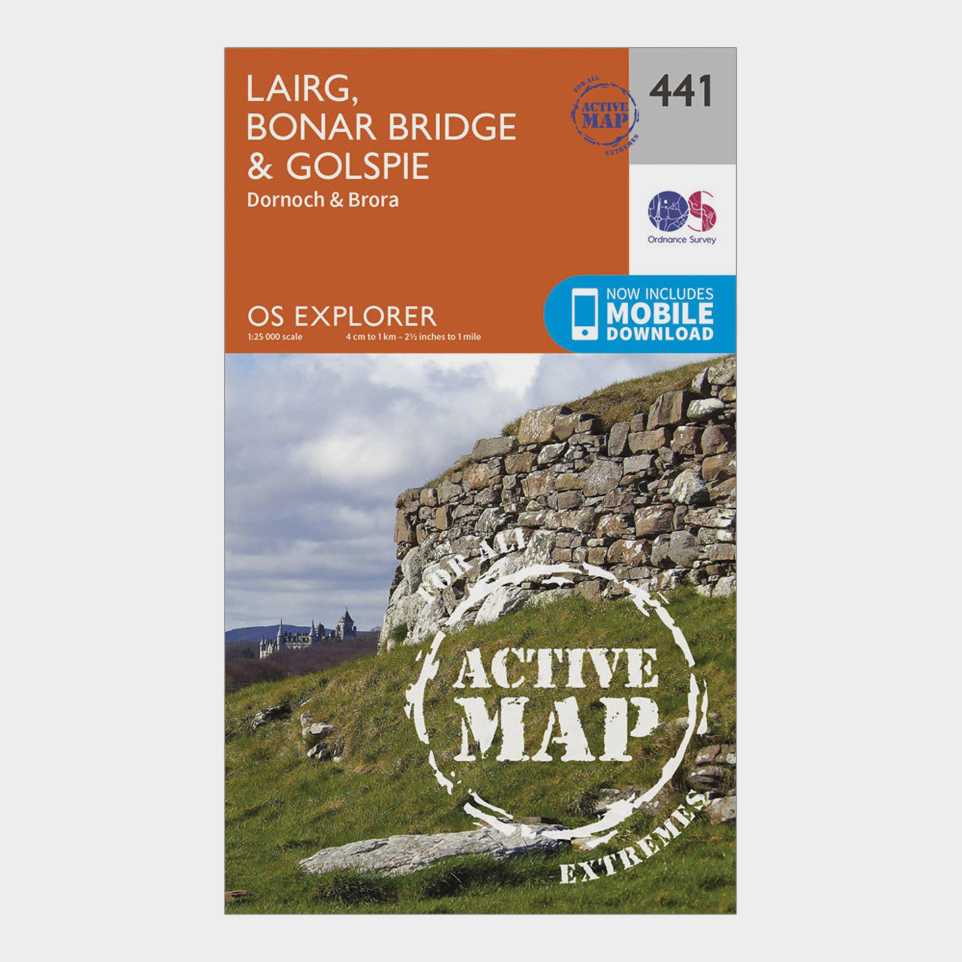 Ordnance Survey Explorer Active 441 Lairg  Bonar BridgeandGolspie Map With Digital Version - Orange/d  Orange/d