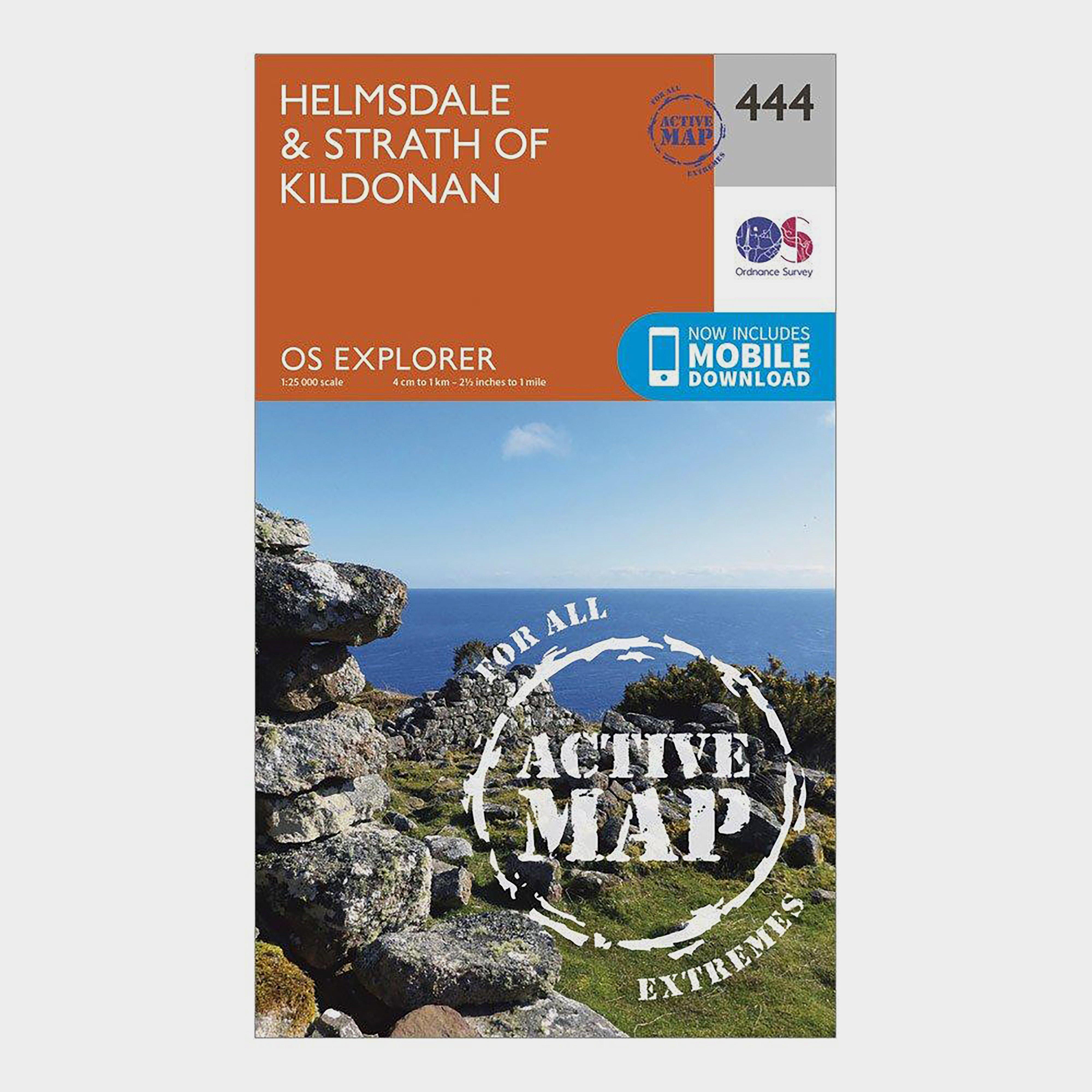 Ordnance Survey Explorer Active 444 HelmsdaleandStrath Of Kildonan Map With Digital Version - Orange/d  Orange/d
