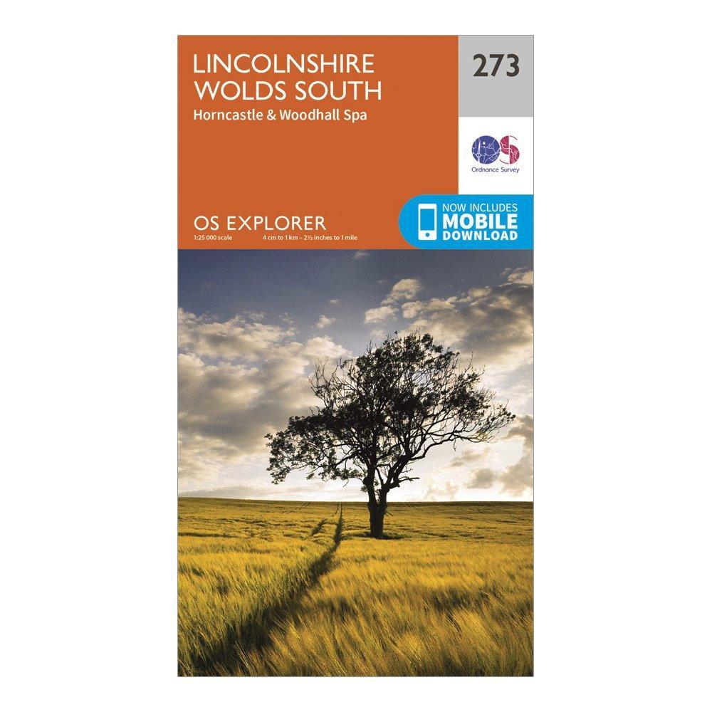 Ordnance Survey Explorer 273 Lincolnshire Wolds South Map With Digital Version - Orange/d  Orange/d