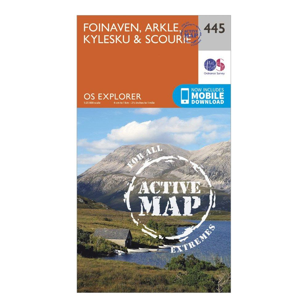 Ordnance Survey Explorer Active 445 Foinaven  Arkle  KyleskuandScourie Map With Digital Version - Orange/d  Orange/d
