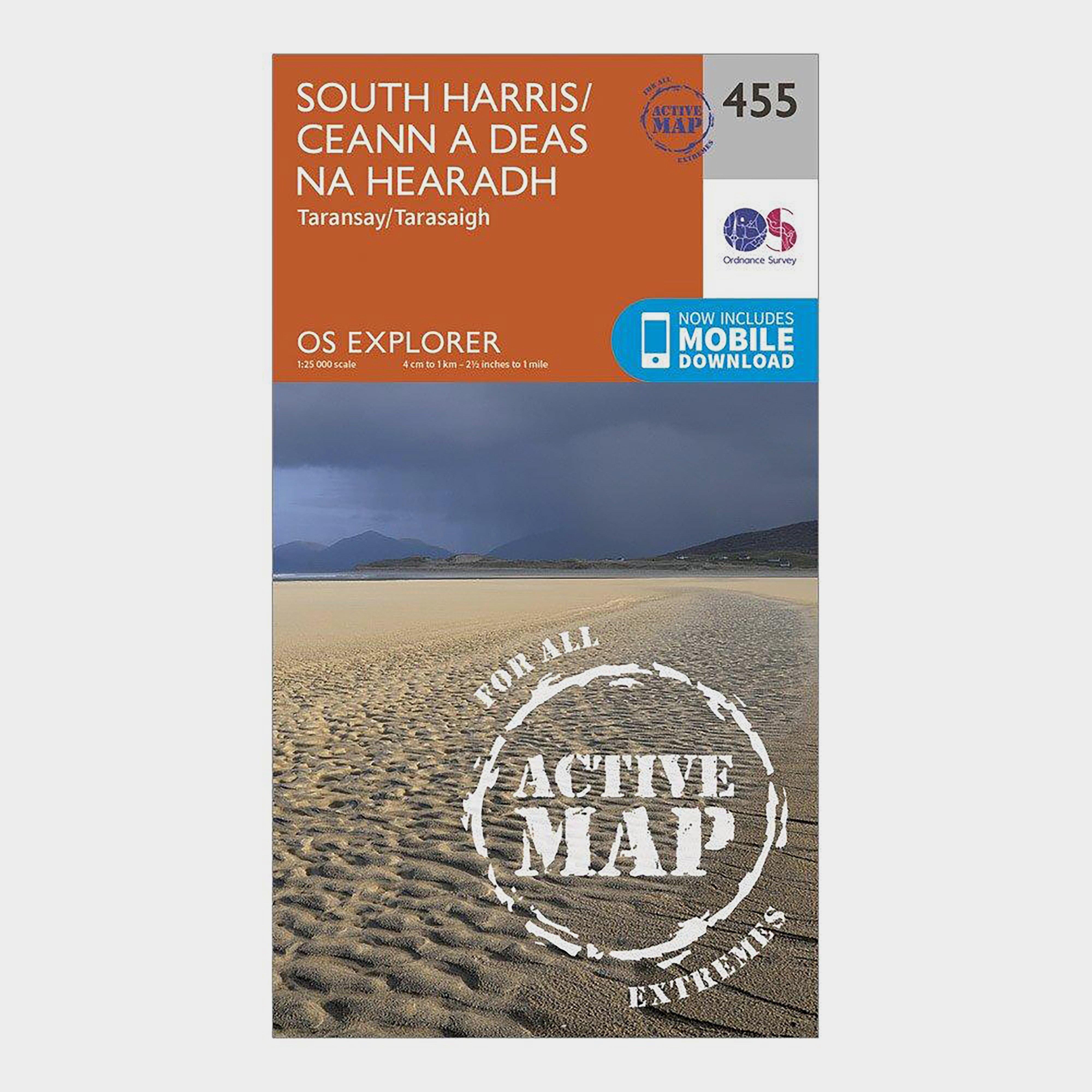 Ordnance Survey Explorer Active 455 South Harris Map With Digital Version - Orange/d  Orange/d