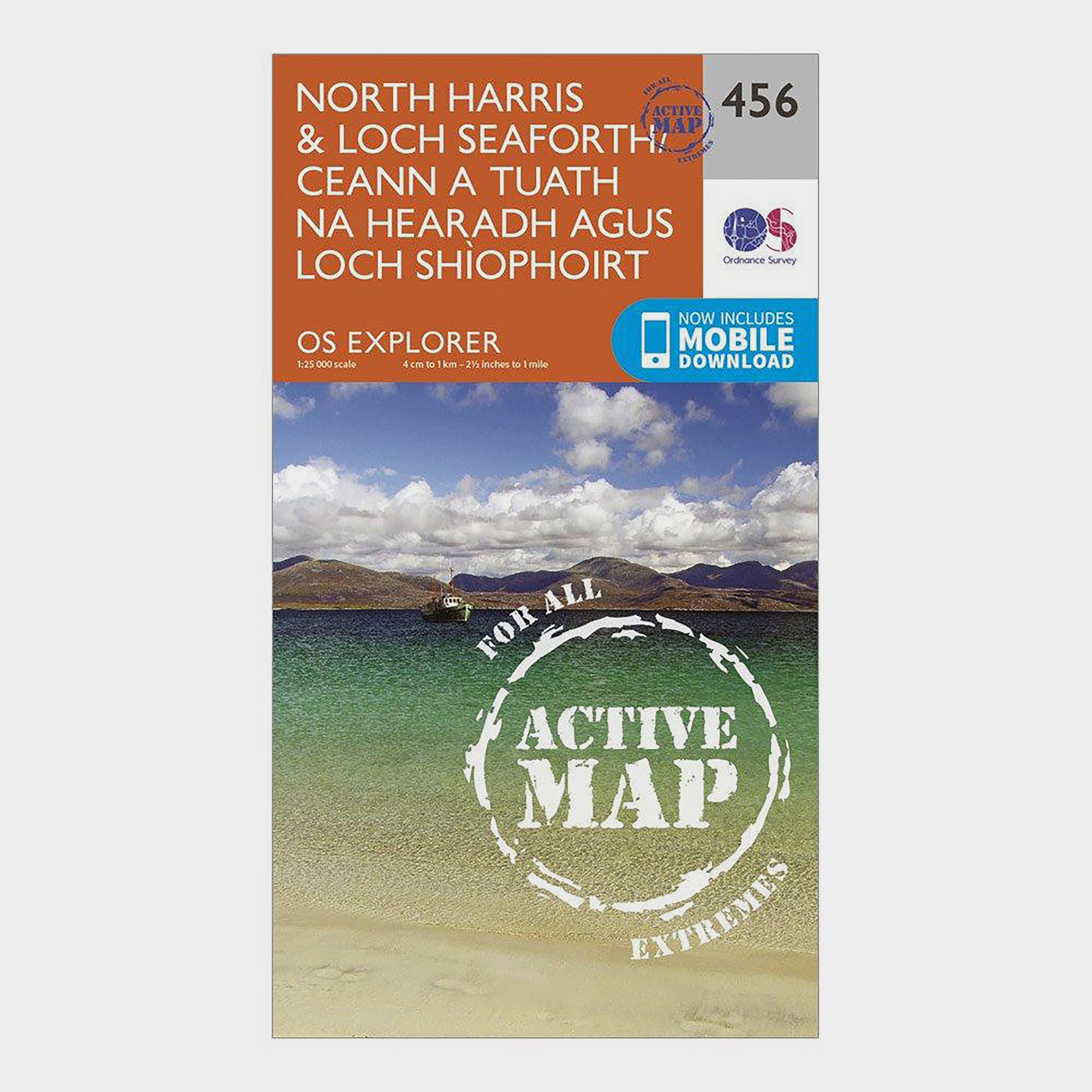 Ordnance Survey Explorer Active 284 North HarrisandLoch Seaforth Map With Digital Version - Orange/d  Orange/d