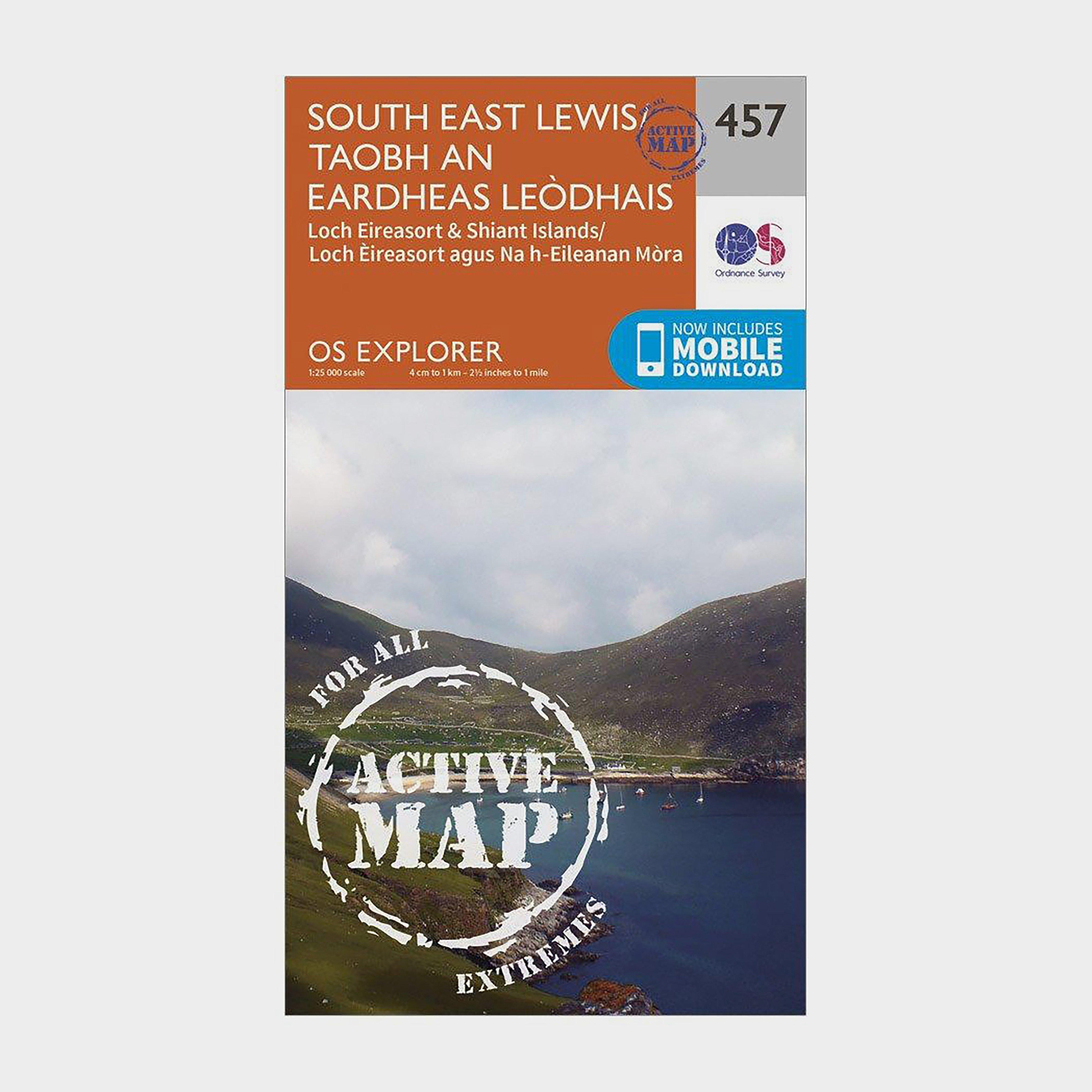 Ordnance Survey Explorer Active 457 South East Lewis Map With Digital Version - Orange/d  Orange/d