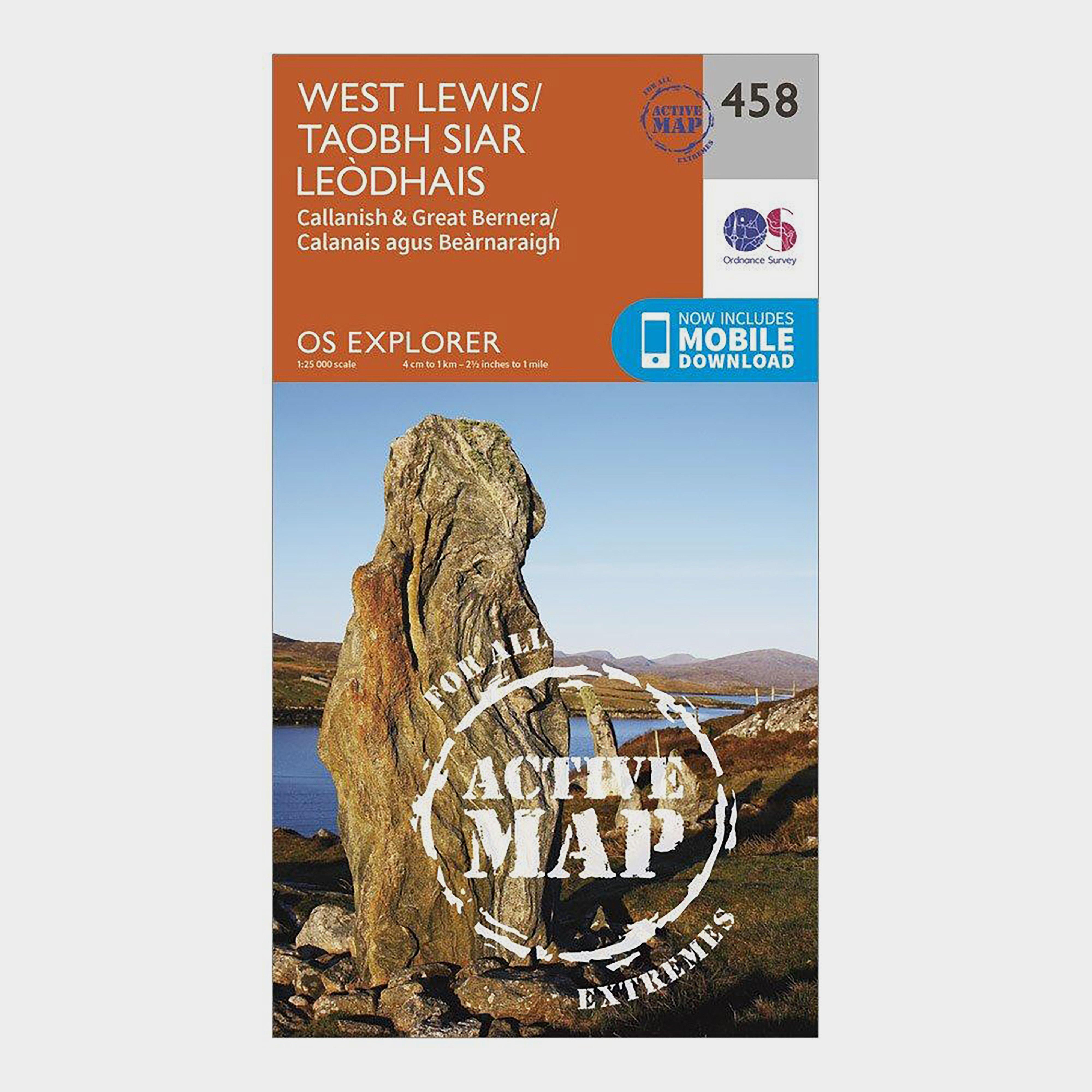 Ordnance Survey Explorer Active 458 West Lewis Map With Digital Version - D/d  D/d