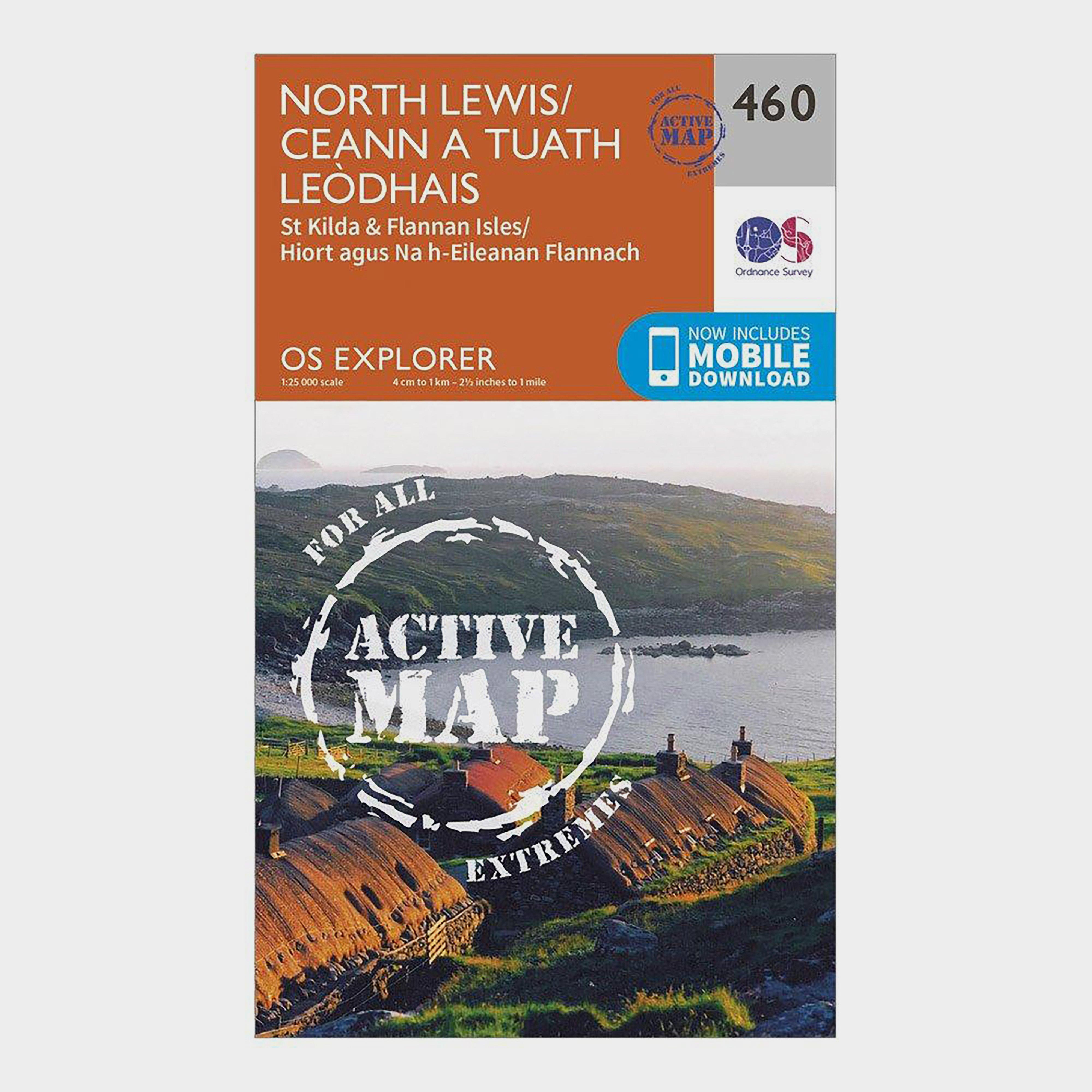 Ordnance Survey Explorer Active 460 North Lewis Map With Digital Version - D/d  D/d