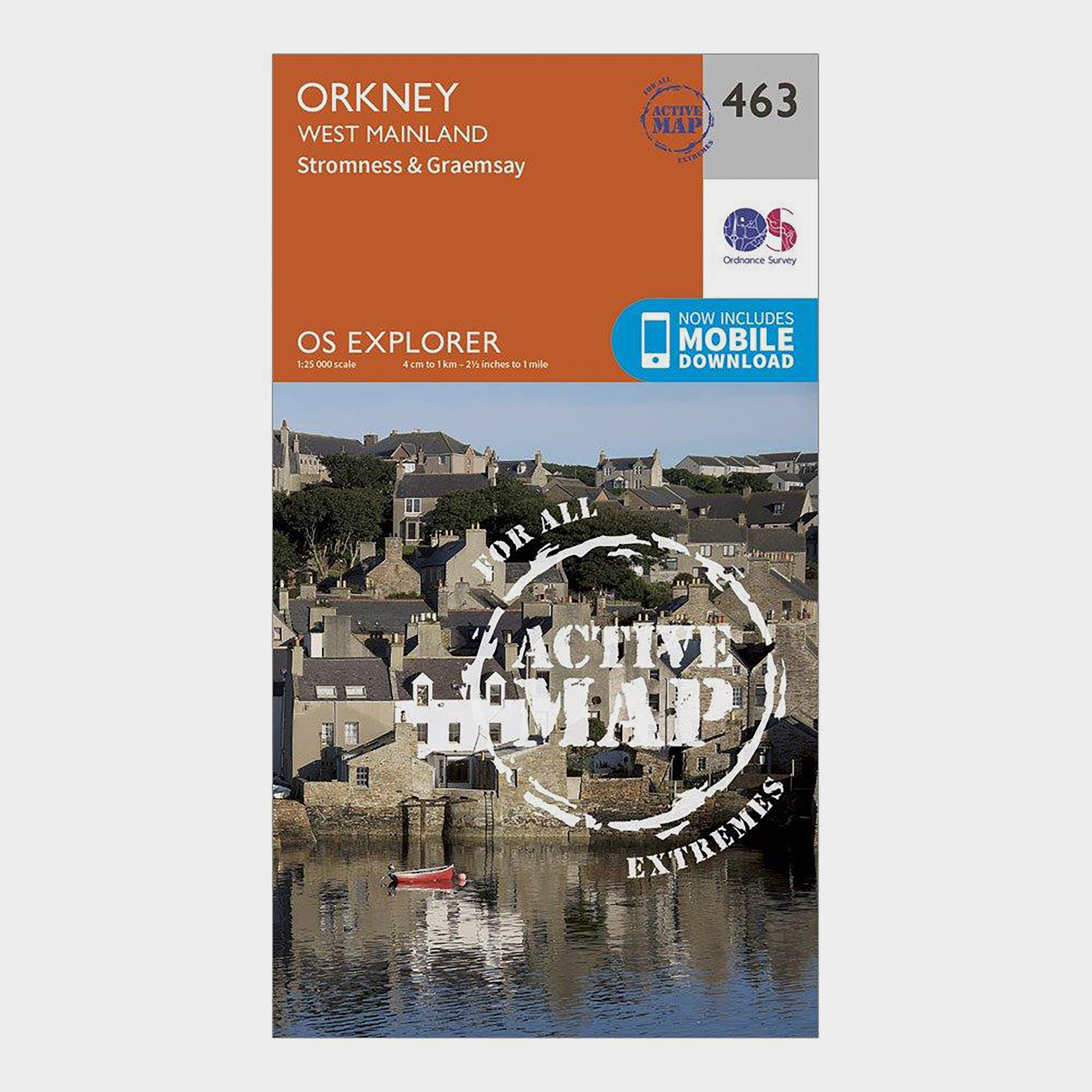 Ordnance Survey Explorer Active 463 Orkney - West Mainland Map With Digital Version