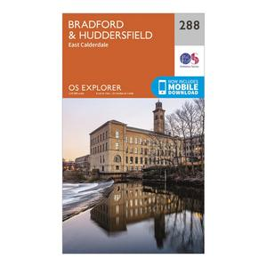 ORDNANCE SURVEY Explorer 288 Bradford & Huddersfield Map With Digital Version