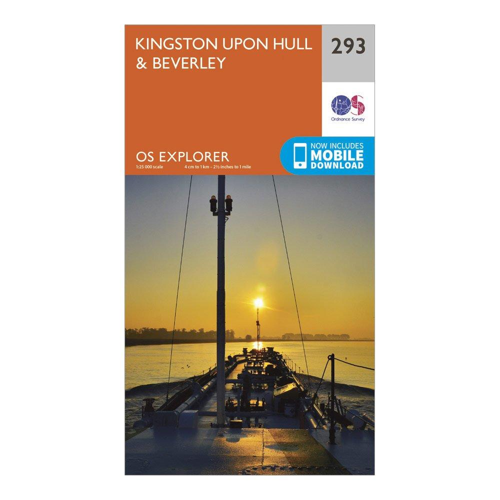 Ordnance Survey Explorer 293 Kingston Upon HullandBeverley Map With Digital Version - Orange/d  Orange/d