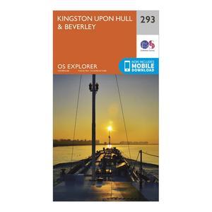 ORDNANCE SURVEY Explorer 293 Kingston upon Hull & Beverley Map With Digital Version