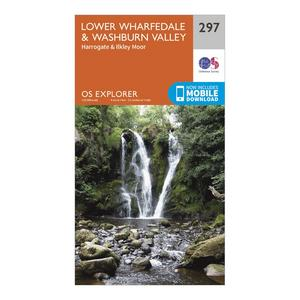 ORDNANCE SURVEY Explorer 297 Lower Wharfedale & Washburn Valley Map With Digital Version