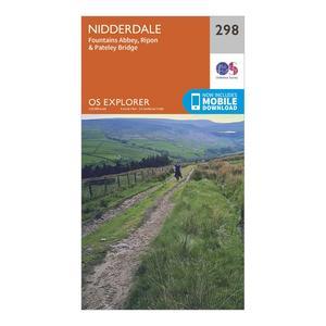 ORDNANCE SURVEY Explorer 298 Nidderdale Map With Digital Version