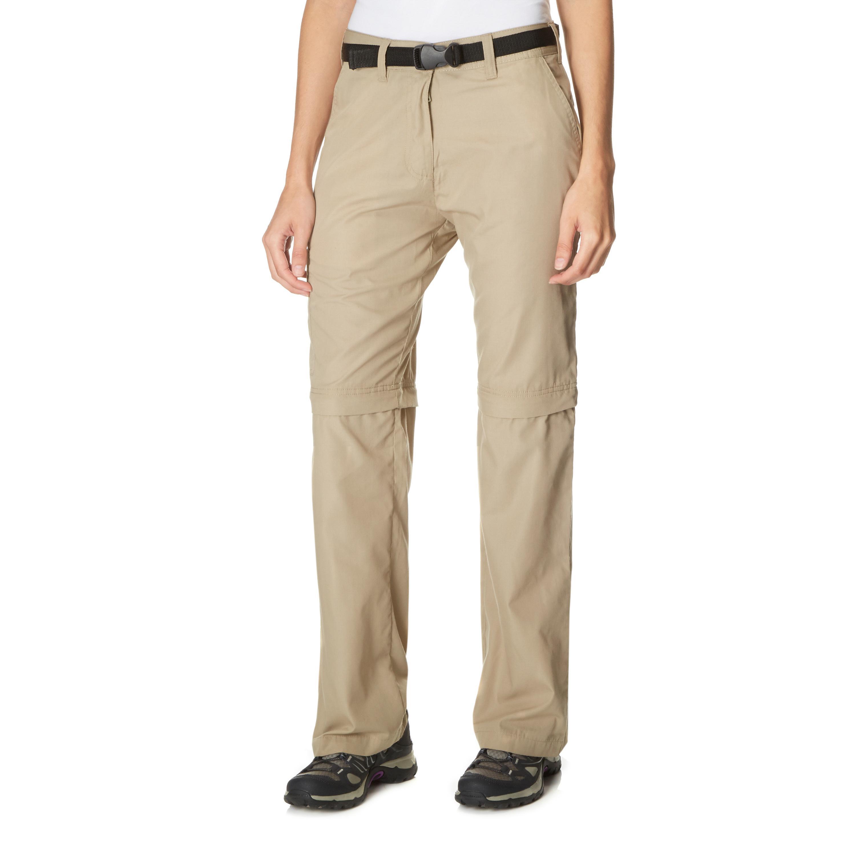 Peter Storm Womens Convertible Walking Trousers Beige