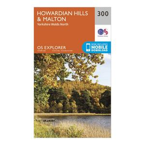 ORDNANCE SURVEY Explorer 300 Howardian Hills & Malton Map With Digital Version
