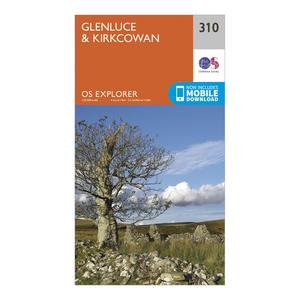 ORDNANCE SURVEY Explorer 310 Glenluce & Kirkcowan Map With Digital Version