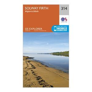 ORDNANCE SURVEY Explorer 314 Solway Firth Map With Digital Version