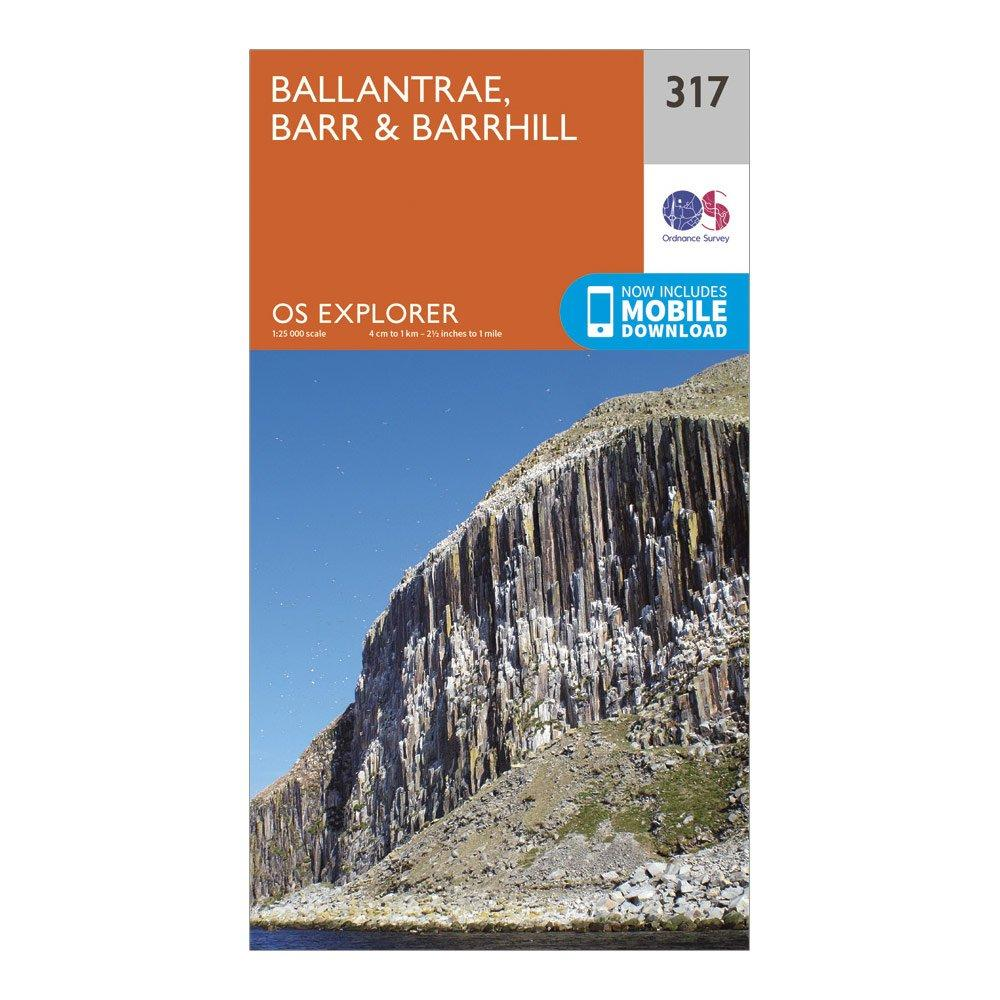 Ordnance Survey Explorer 317 Ballantrae  BarrandBarrhill Map With Digital Version - D/d  D/d