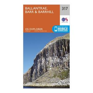 ORDNANCE SURVEY Explorer 317 Ballantrae, Barr & Barrhill Map With Digital Version
