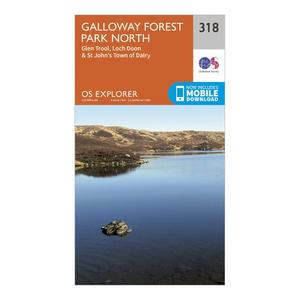 ORDNANCE SURVEY Explorer 318 Galloway Forest Park North Map With Digital Version