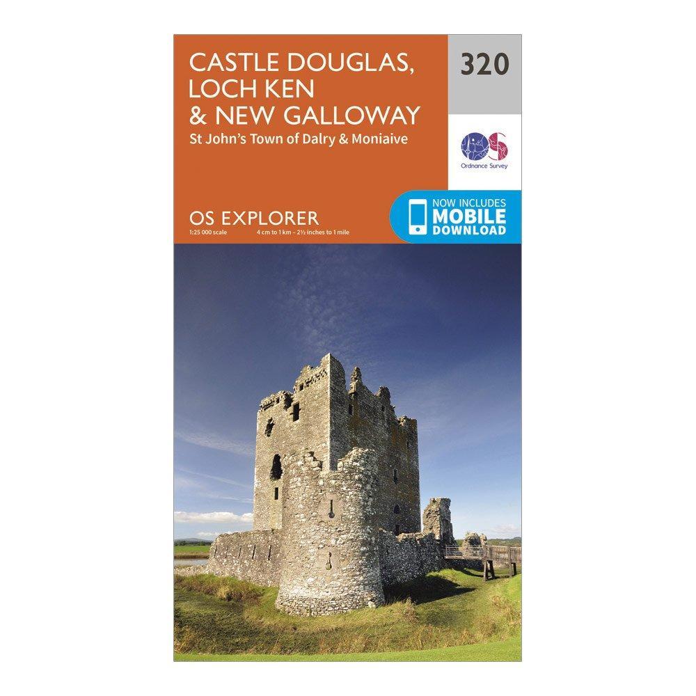 Ordnance Survey Explorer 320 Castle Douglas  Loch KenandNew Galloway Map With Digital Version - Orange/d  Orange/d