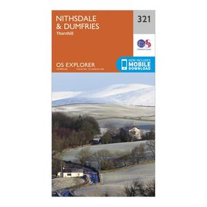 ORDNANCE SURVEY Explorer 321 Nithsdale & Dumfries Map With Digital Version