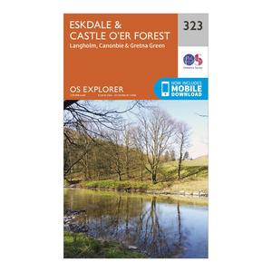 ORDNANCE SURVEY Explorer 323 Eskdale & Castle O'er Forest Map With Digital Version