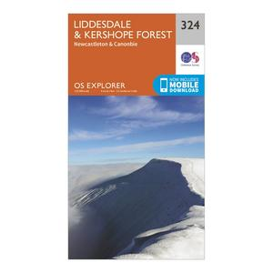 ORDNANCE SURVEY Explorer 324 Liddesdale & Kershope Forest Map With Digital Version