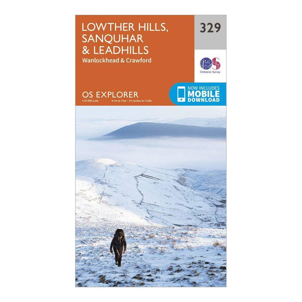 Ordnance Survey Explorer 329 Lowther Hills  SanquharandLeadhills Map With Digital Version - Orange/d  Orange/d