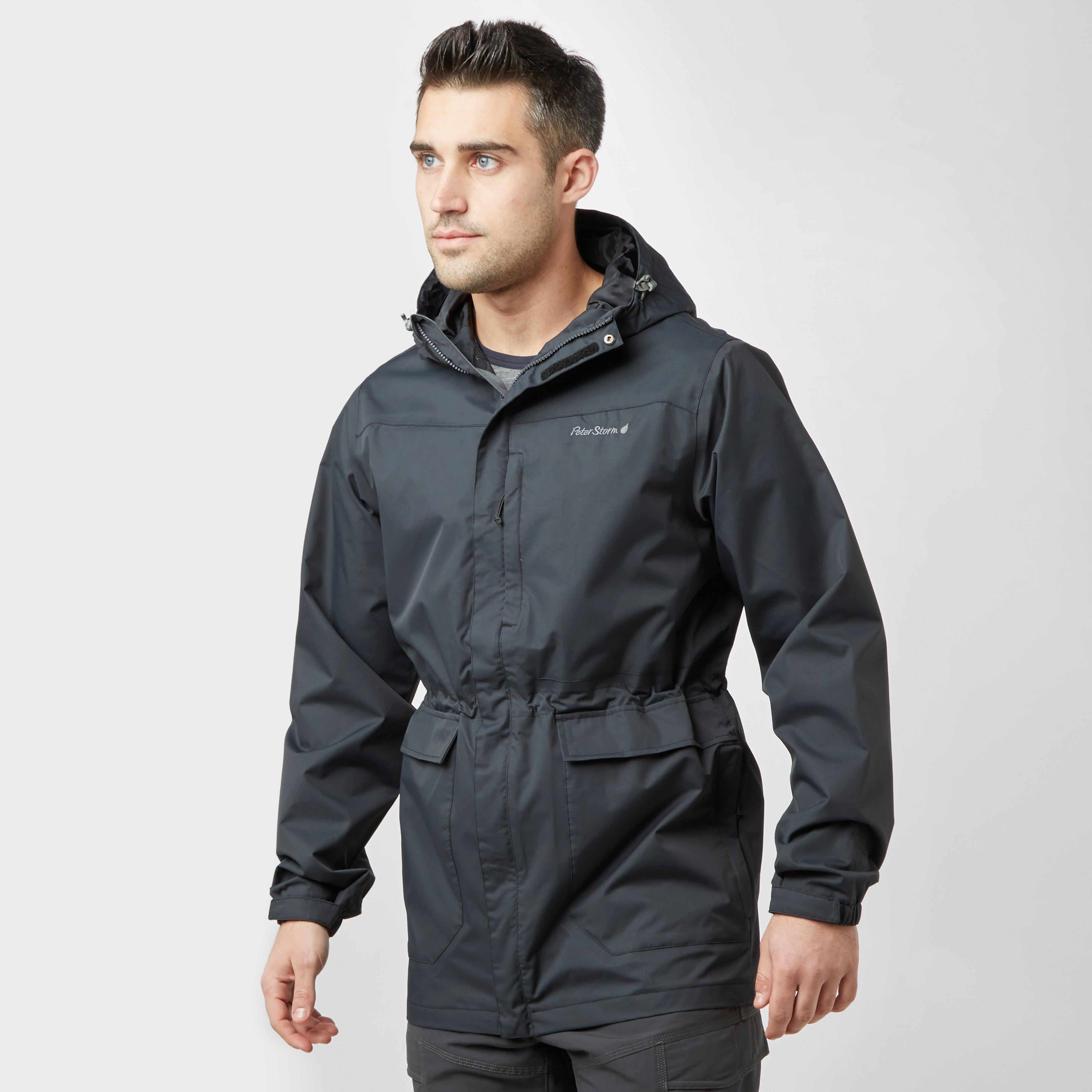 Peter Storm Men's Cyclone Waterproof Jacket, Black