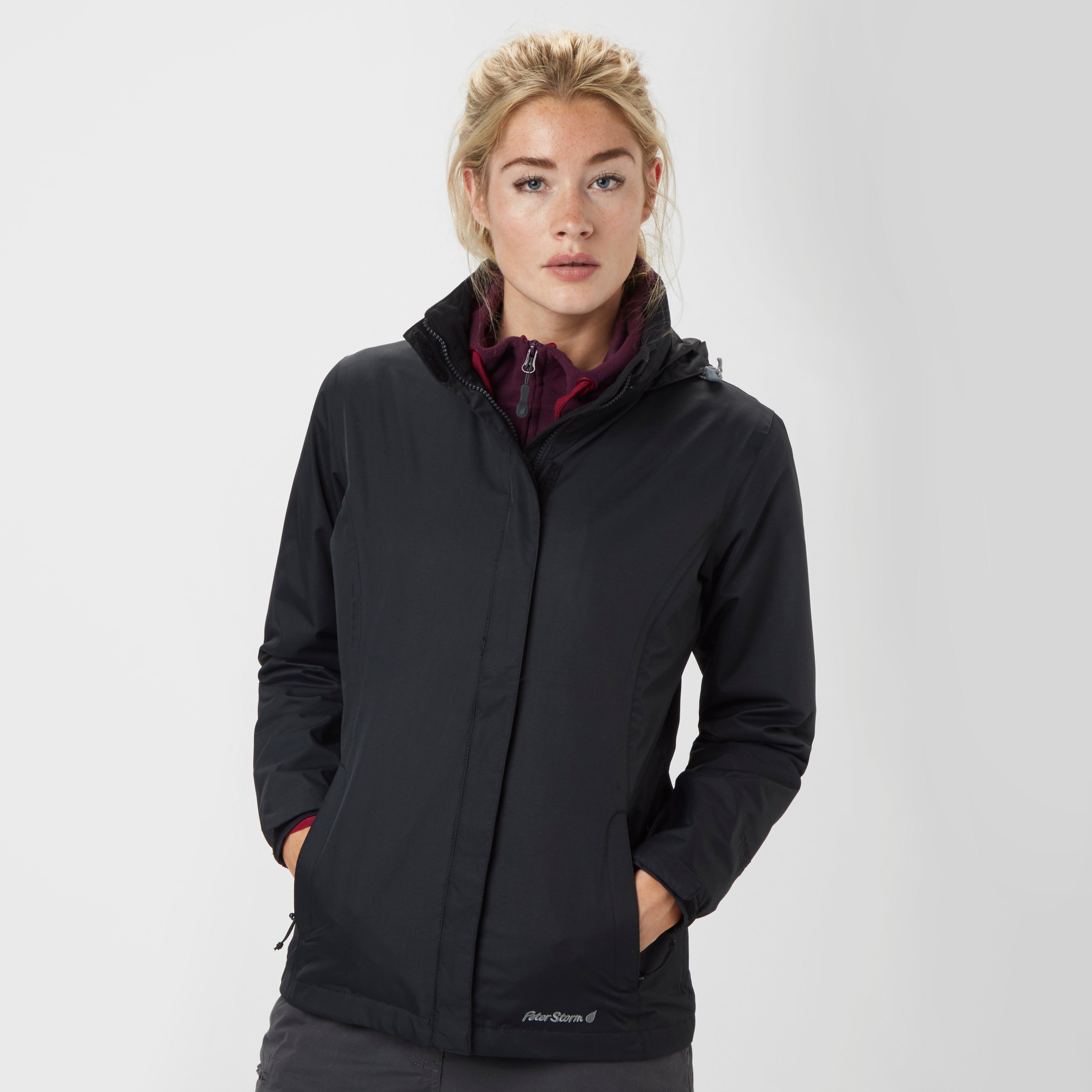 Peter Storm Women's Storm Waterproof Jacket, Black