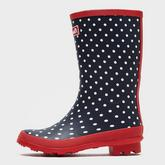 Women's Striped Trim Wellies Short
