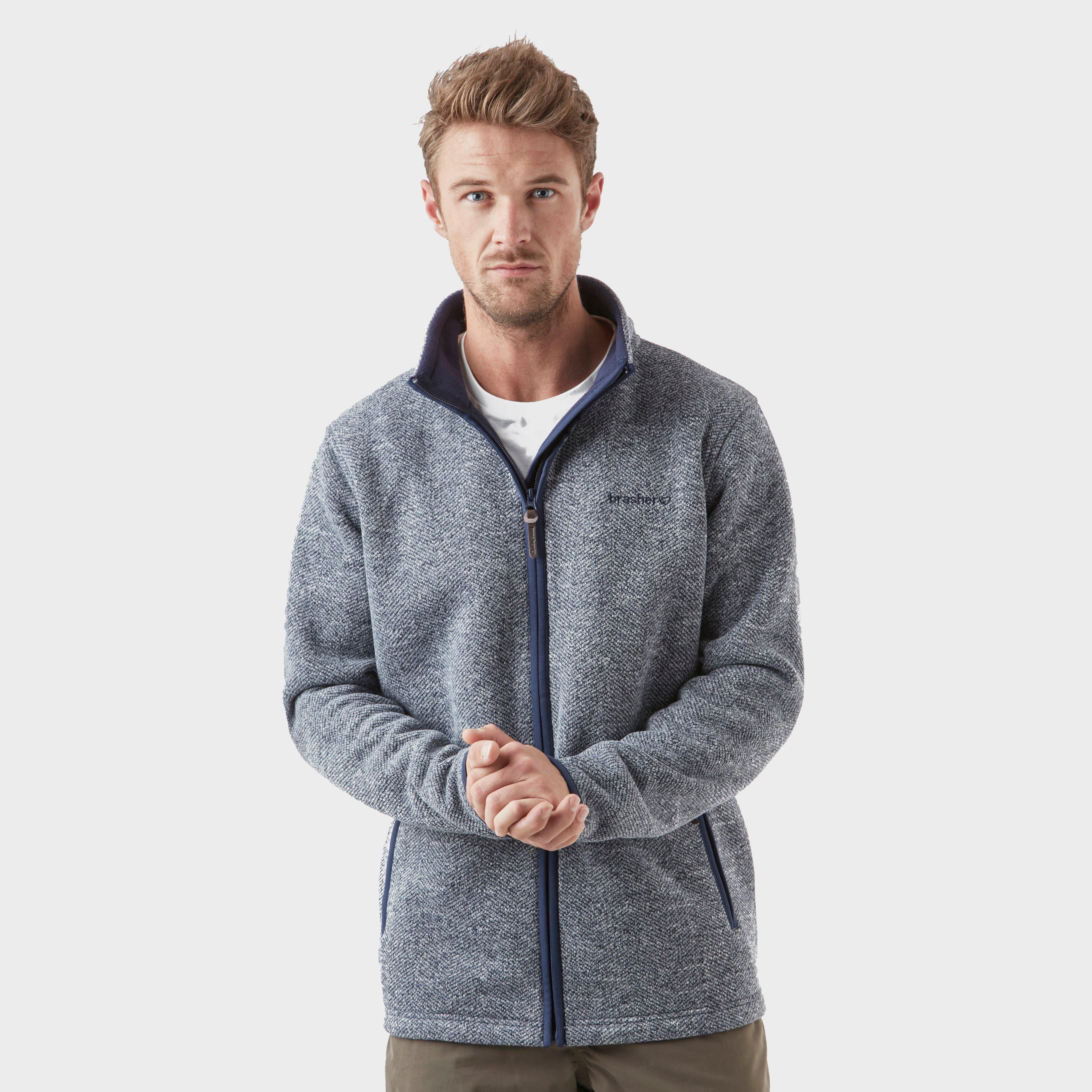 Brasher Mens Windermere Fleece - Grey/nvy  Grey/nvy