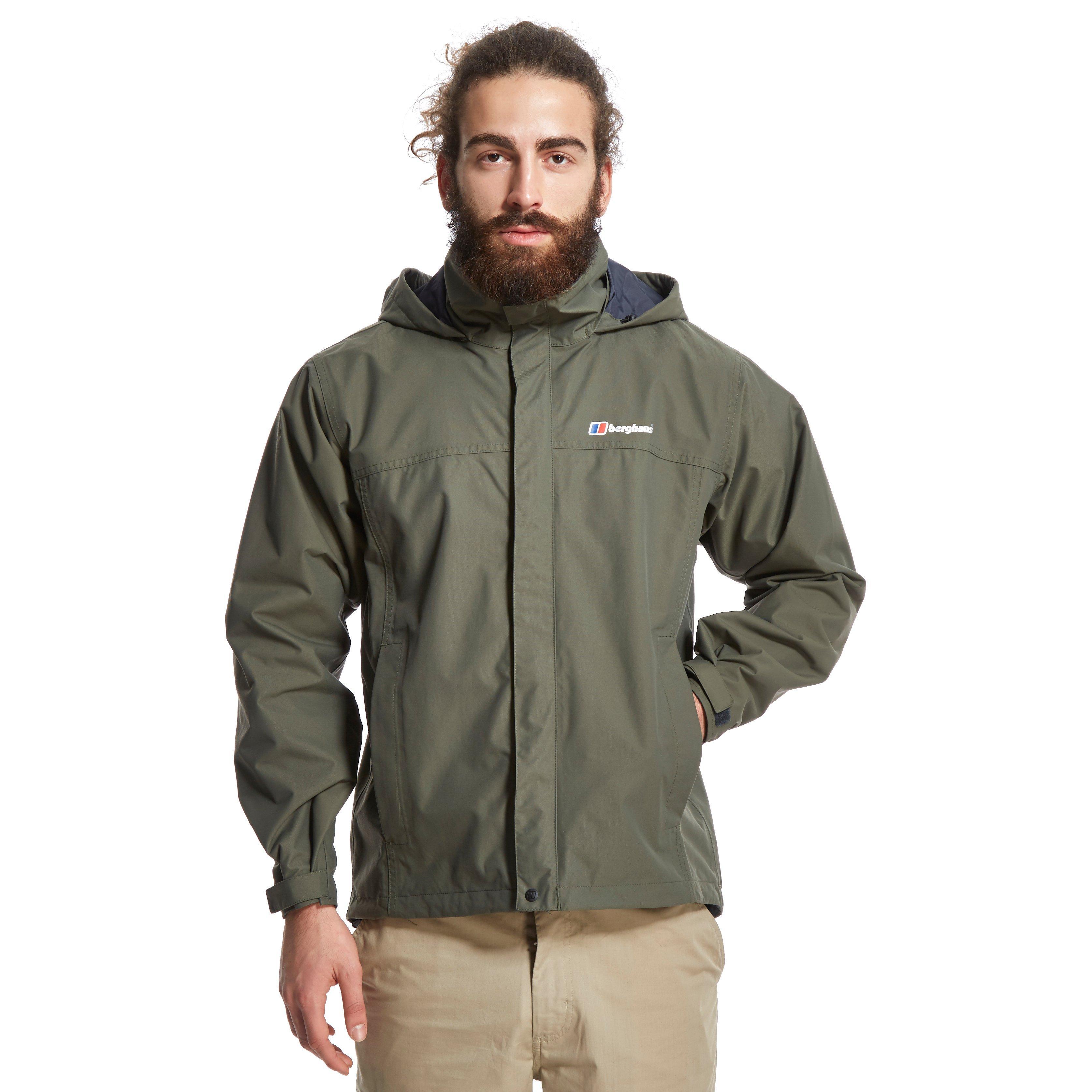 Berghaus Mens RG1 Waterproof Jacket Green