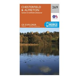 ORDNANCE SURVEY Explorer 269 Chesterfield & Alfreton Map With Digital Version