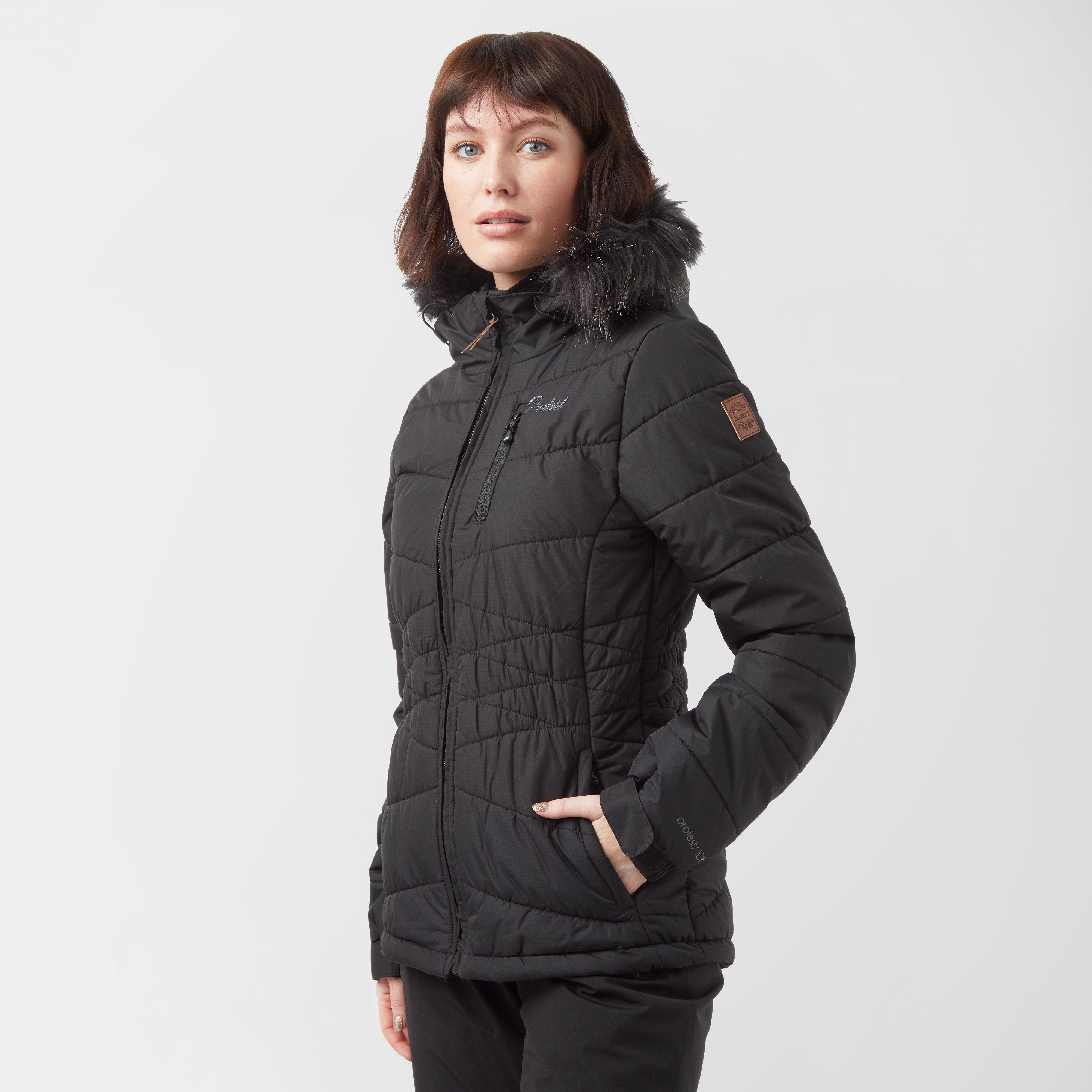 Protest Women's Valdez Snow Jacket, Black