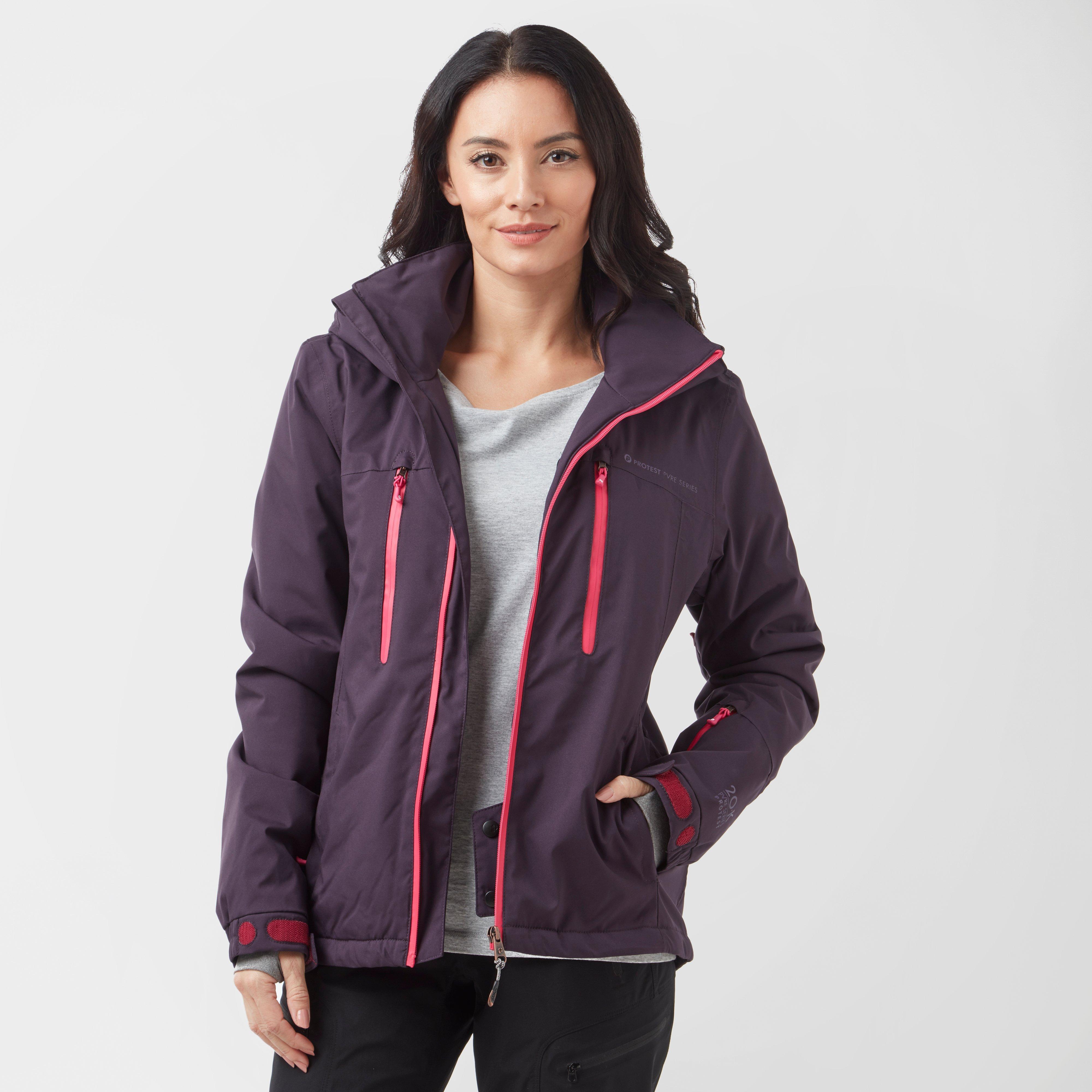 Protest Women's Giggile 18 Ski Jacket, Purple