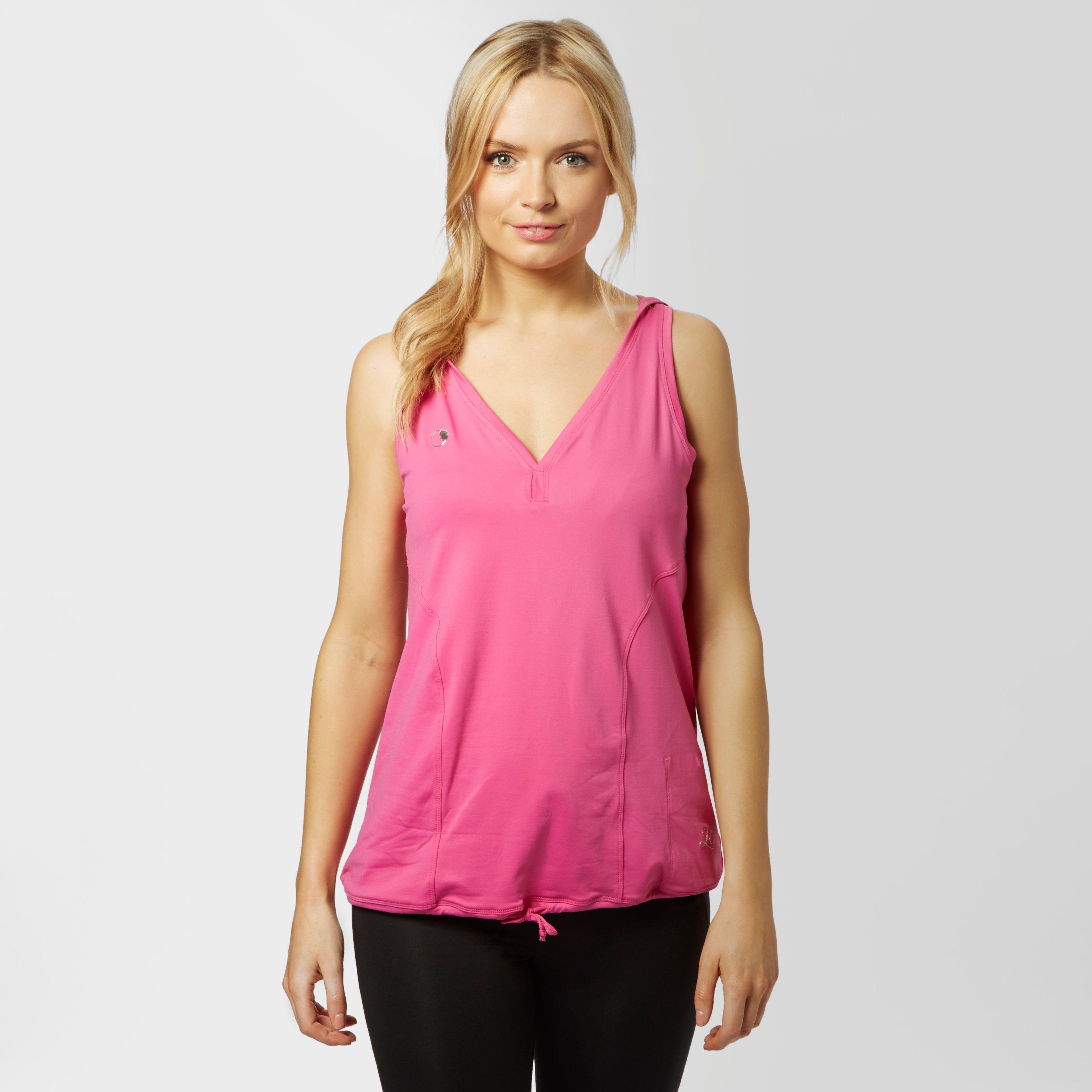 Zoca Women's Loose Fit Running Vest, Pink