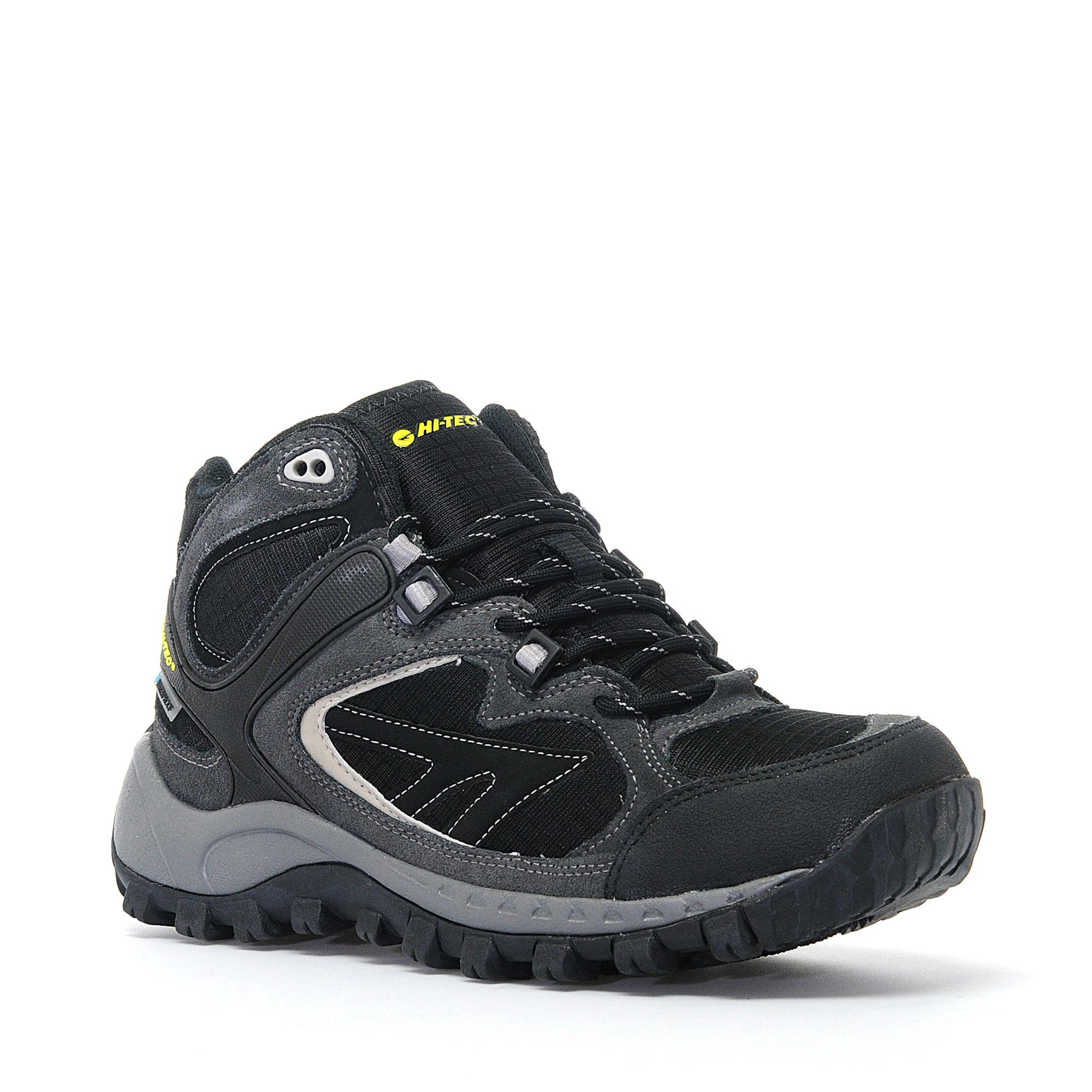 Hi Tec Mens South Trail Waterproof Mid Walking Shoe Black