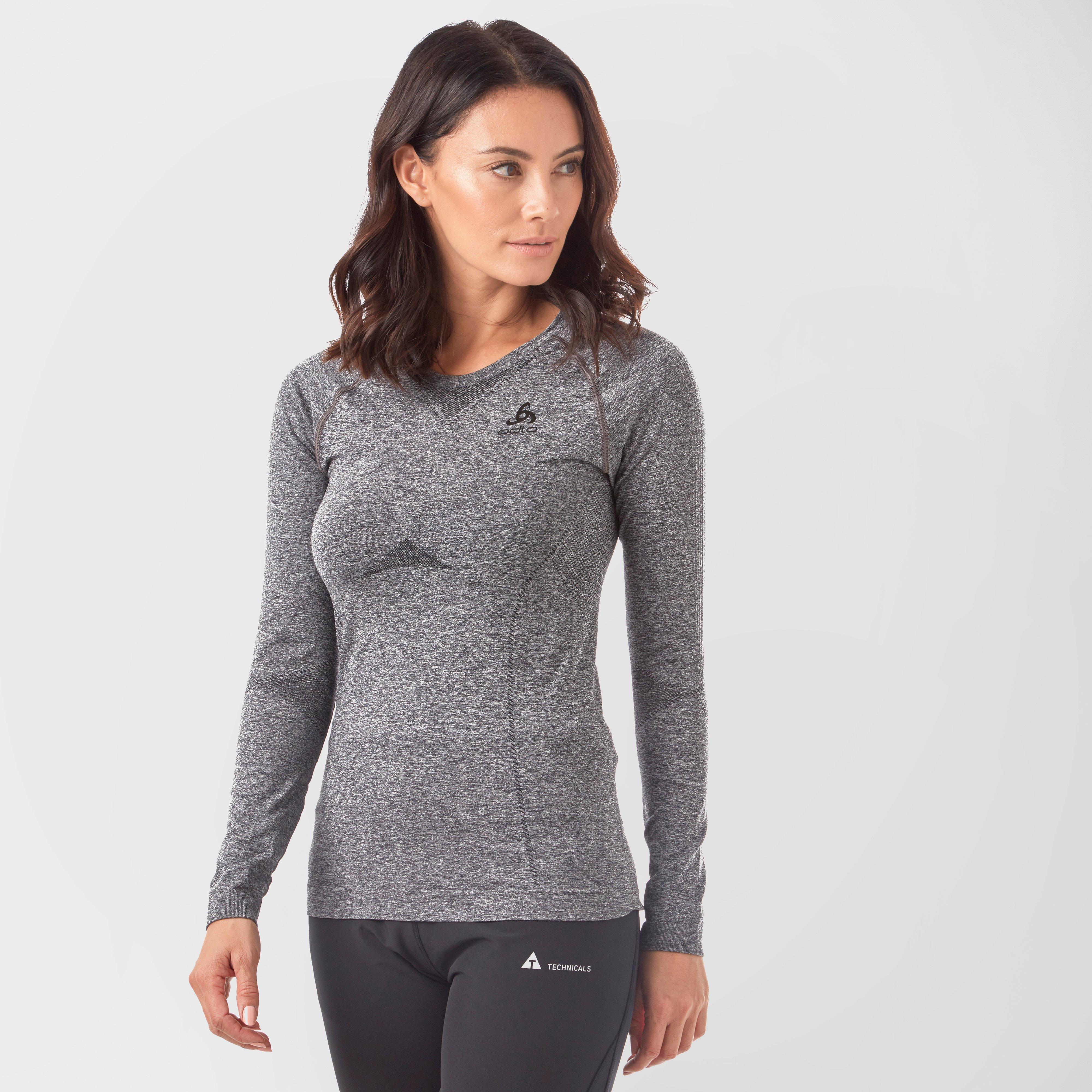 Odlo Women's SUW Performance Light Long Sleeve Baselayer, Grey