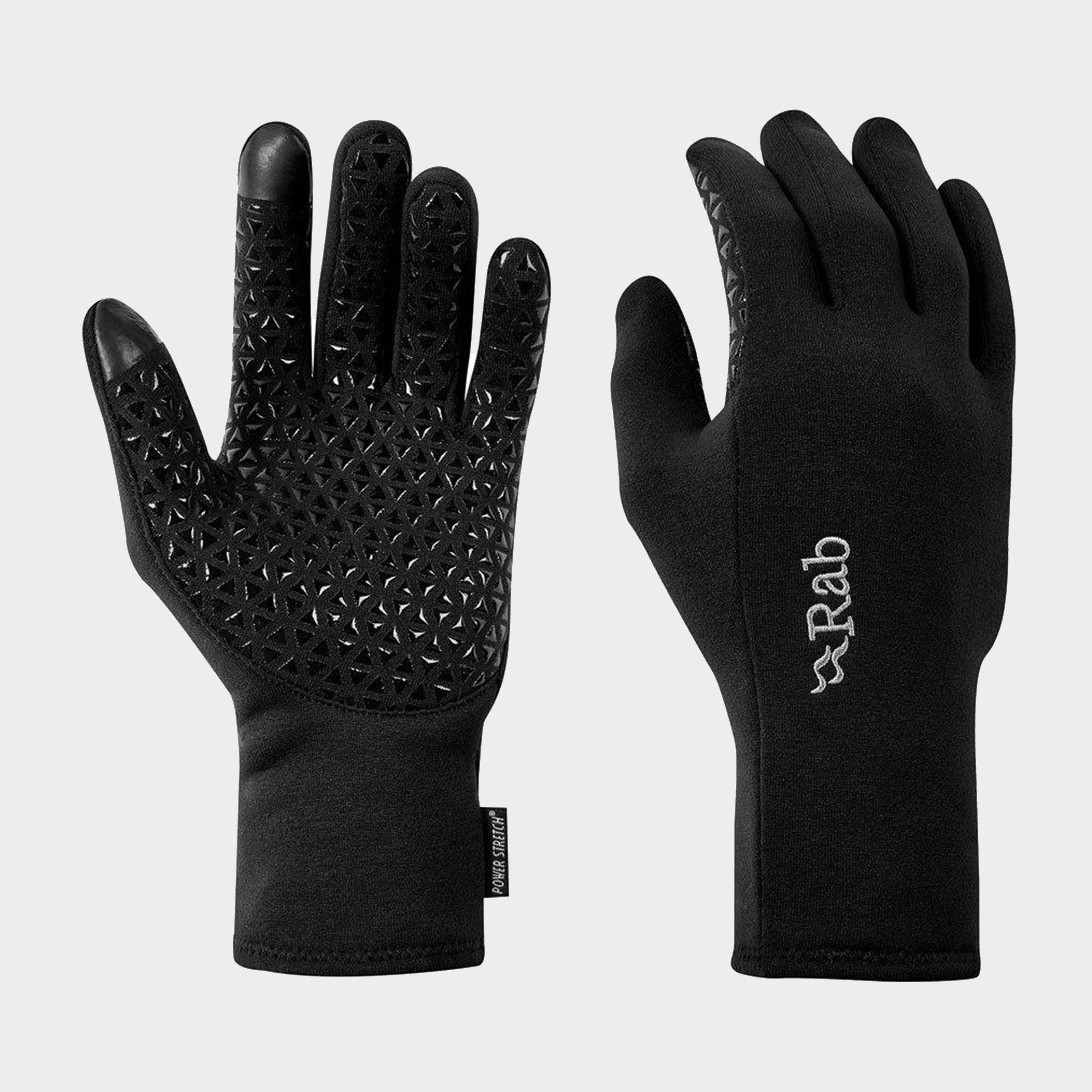 Rab Power Stretch Contact Grip Glove, Black