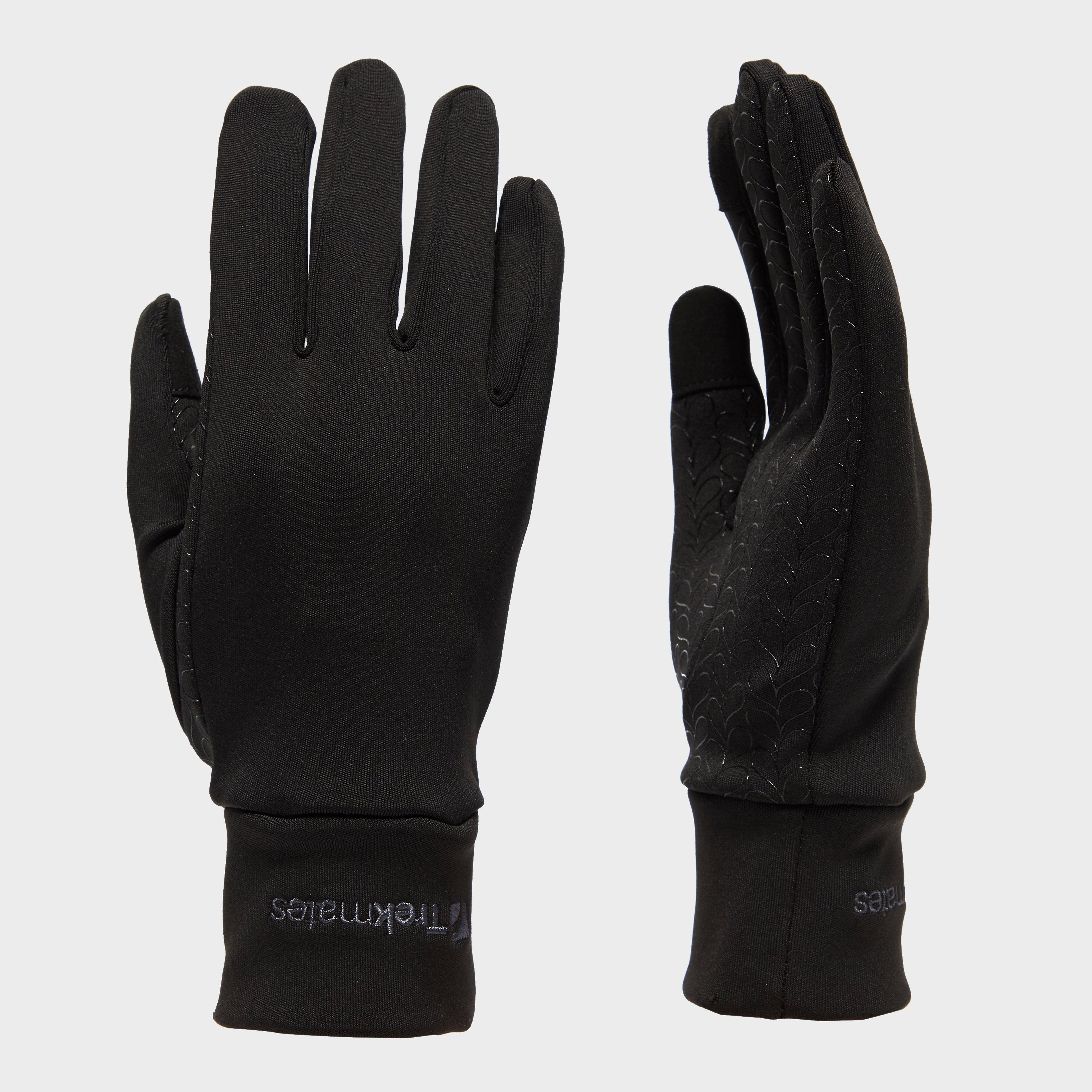 Trekmates Women's Touchscreen Grip Gloves, Black