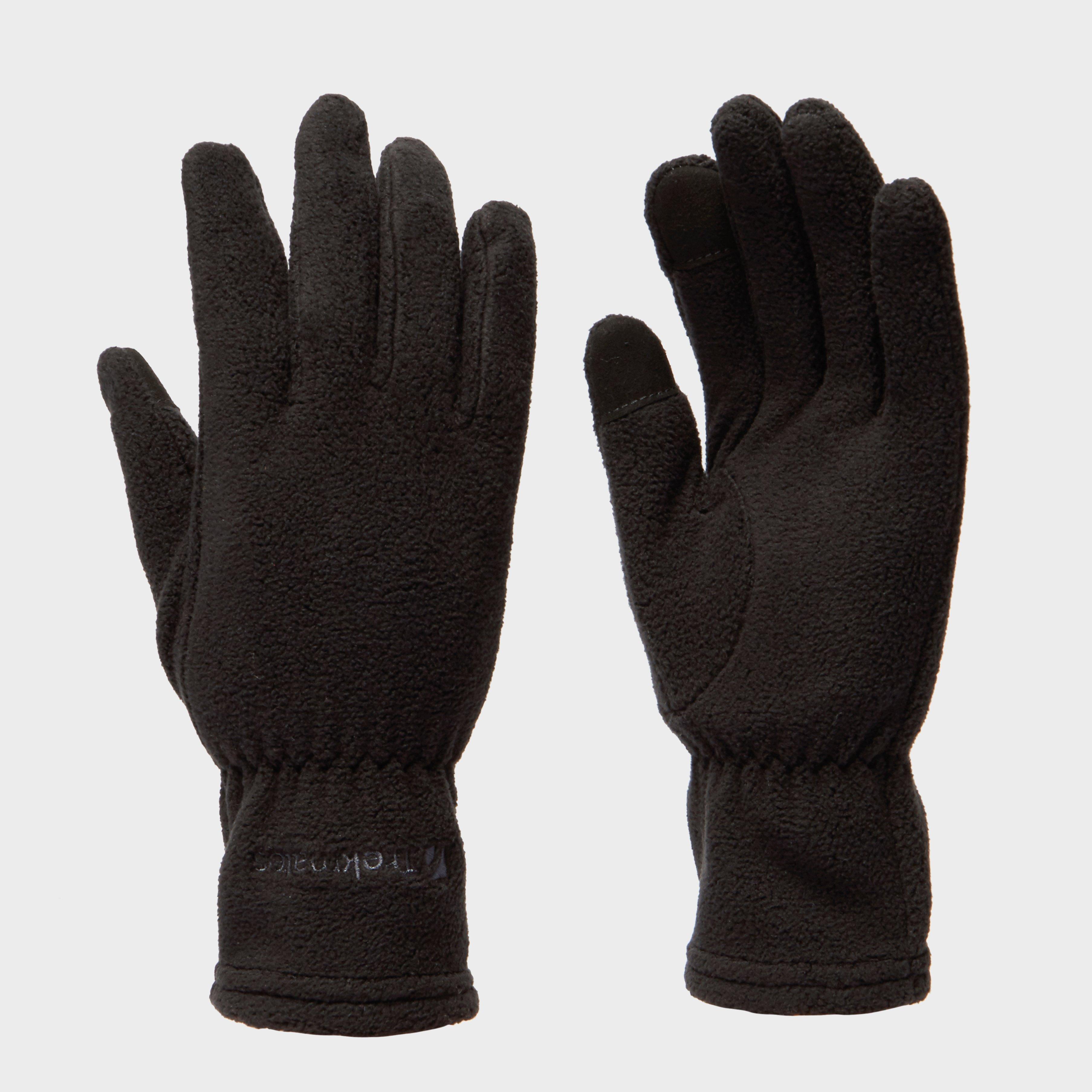 Trekmates Women's Touchscreen Fleece Gloves, Black