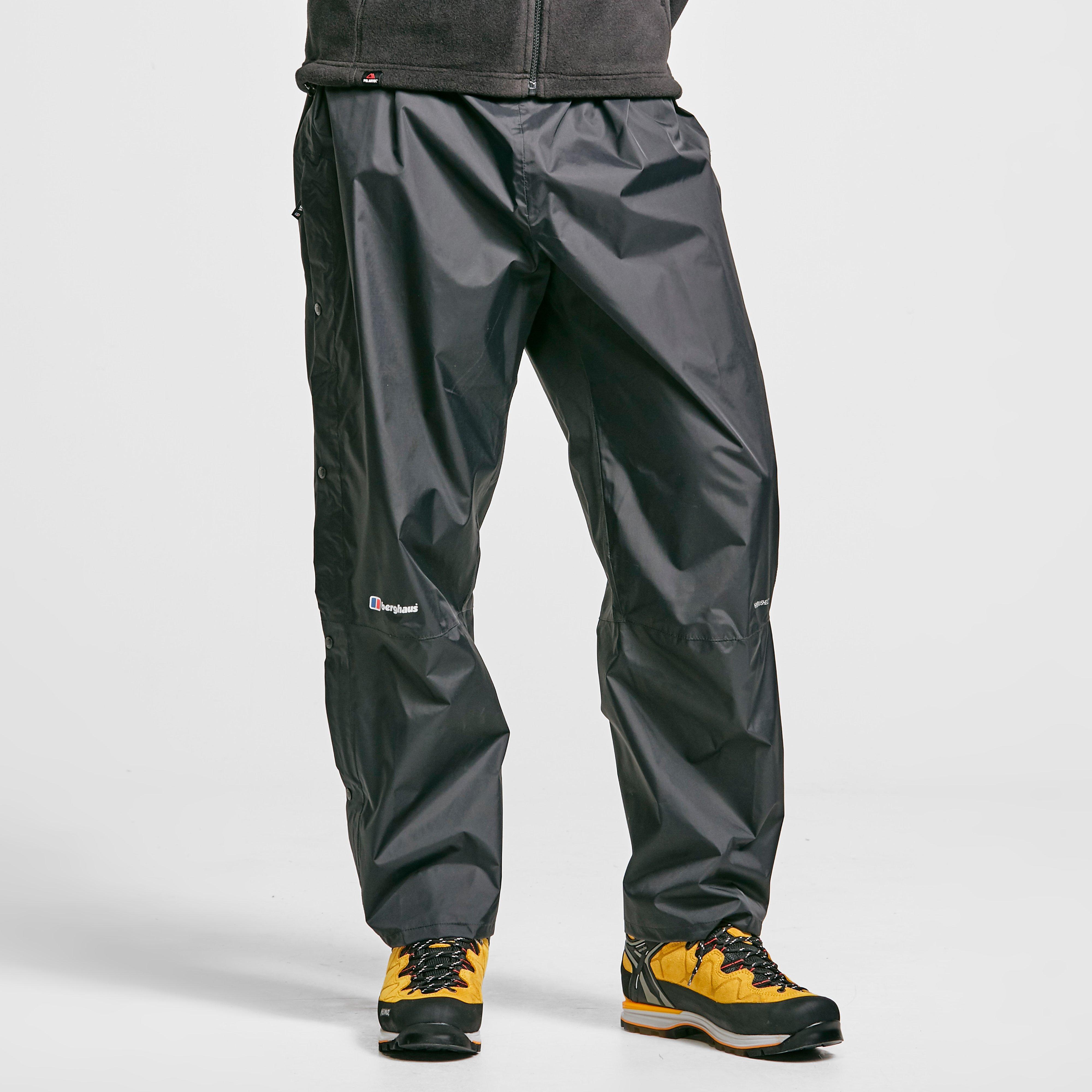 Berghaus Mens Stormcloud Waterproof Overtrousers - Black/black  Black/black