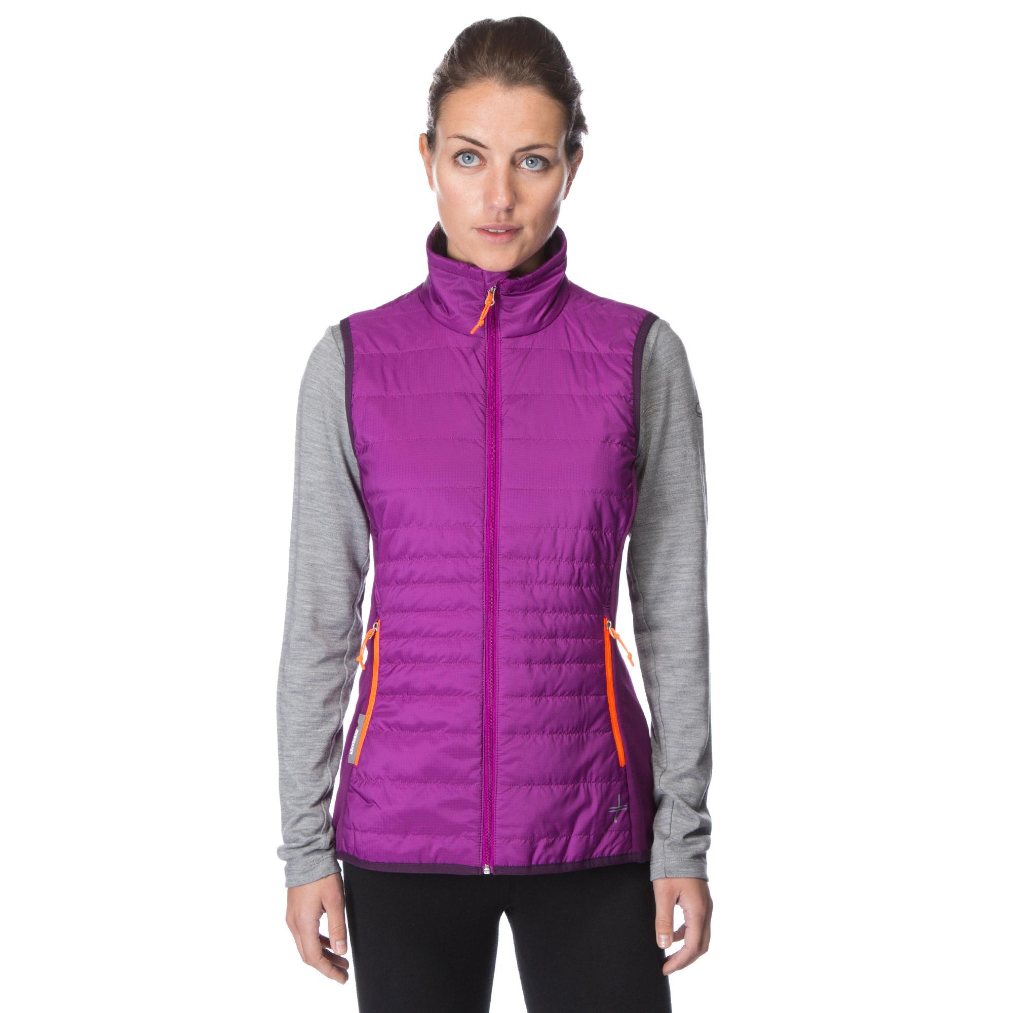 Icebreaker Womens Halo Vest Purple