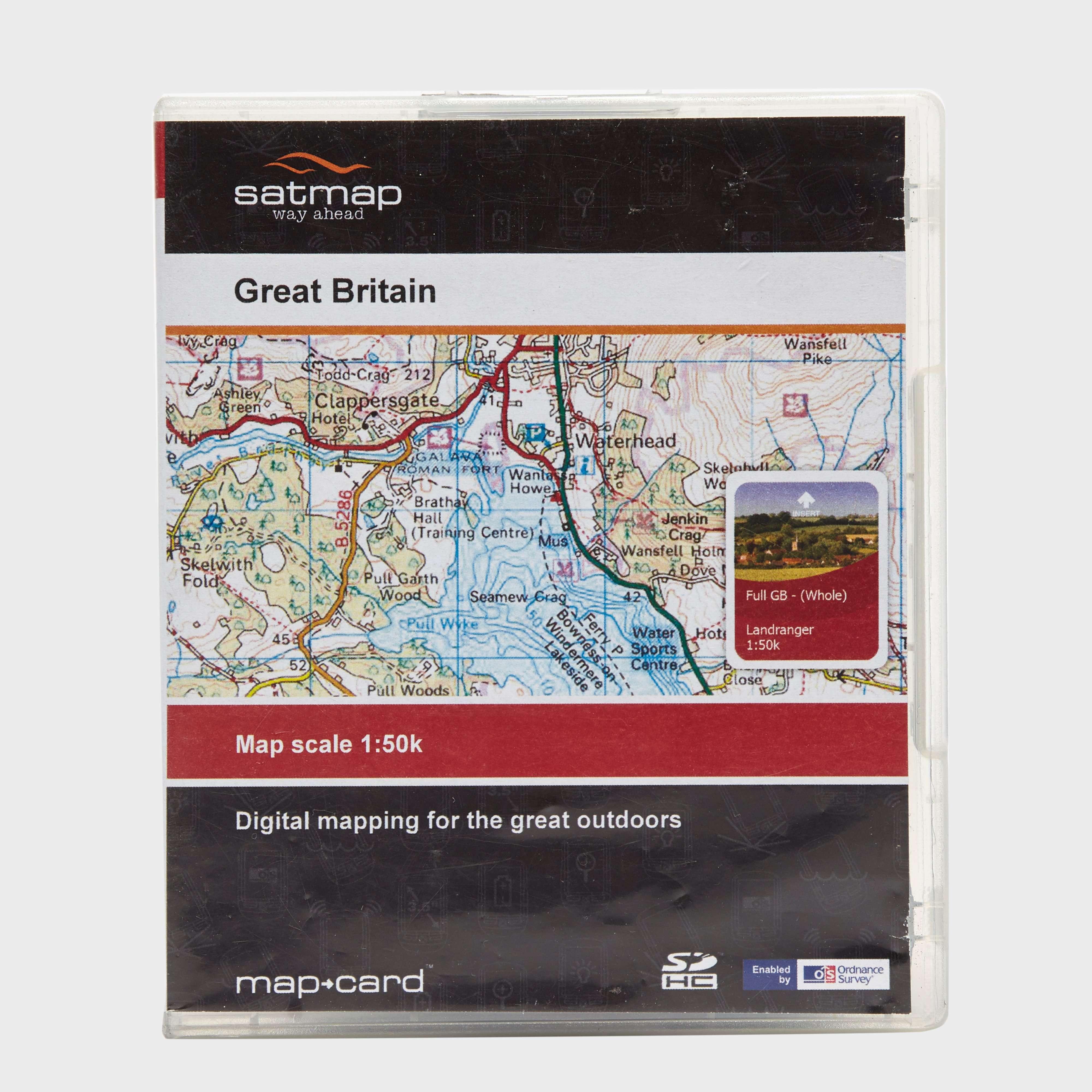 BURTON Great Britain 1:50K Digital Map SD Card
