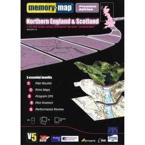 MEMORY MAP OS Landranger Half Country DVD Northern England & Scotland 1:50k