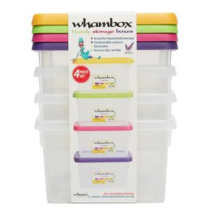 WHAM 4 Pack 1.5L Storage Boxes